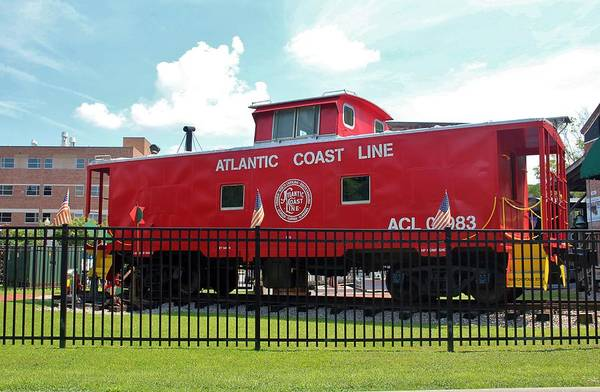 Photograph - Red Caboose On Display by Cynthia Guinn