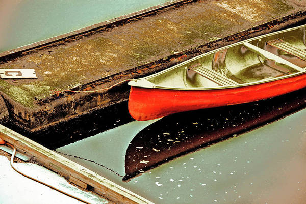 Vancouver Mixed Media - Red Canoe by Priscilla Huber