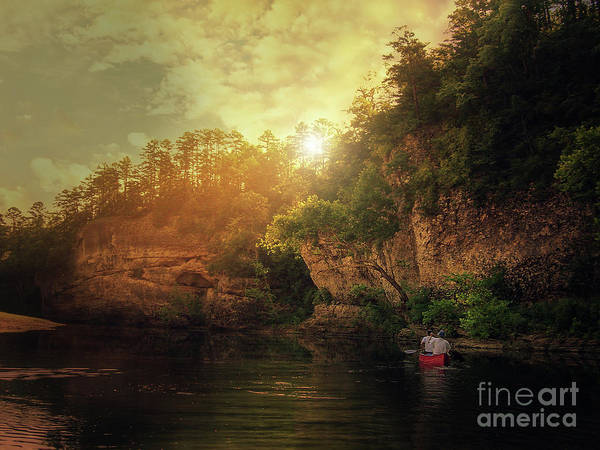 Photograph - Red Canoe by Tim Wemple