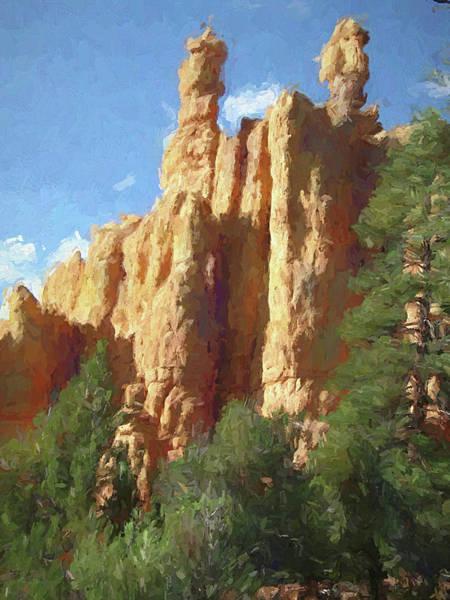 Digital Art - Red Canyon Twins by David King