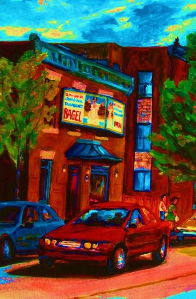 Painting - Red Car Blue Sky by Carole Spandau