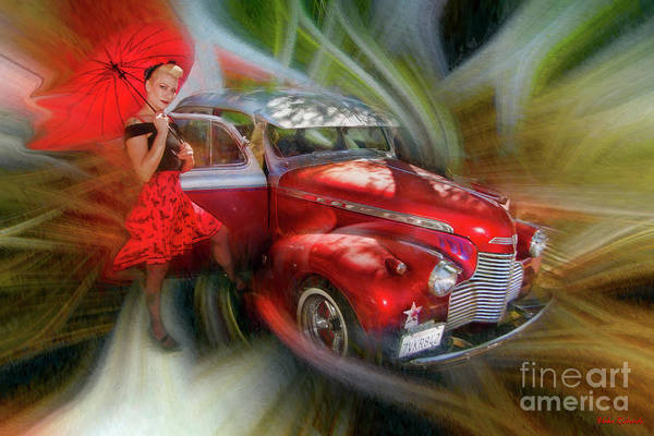 Photograph - Red Car Red Dress Of Course  by Blake Richards