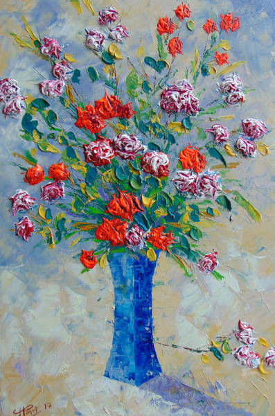 Painting - Red Carnations by Frederic Payet