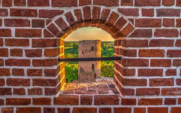 Red Castle Window View Art Print