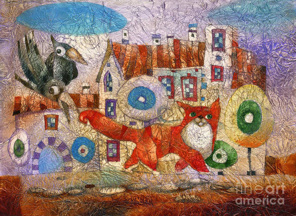 Wall Art - Mixed Media - Red Cat by Svetlana and Sabir Gadghievs