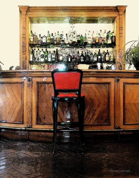Photograph - Red Chair At Bar, Viareggio by Coleman Mattingly