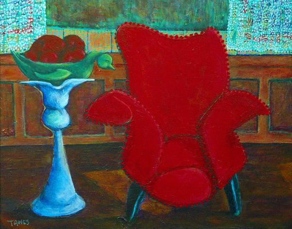 Painting - Red Chair by Dennis Tawes