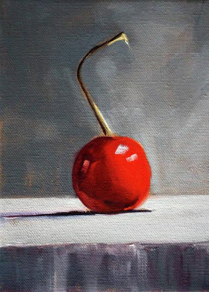 Wall Art - Painting - Red Cherry by Nancy Merkle