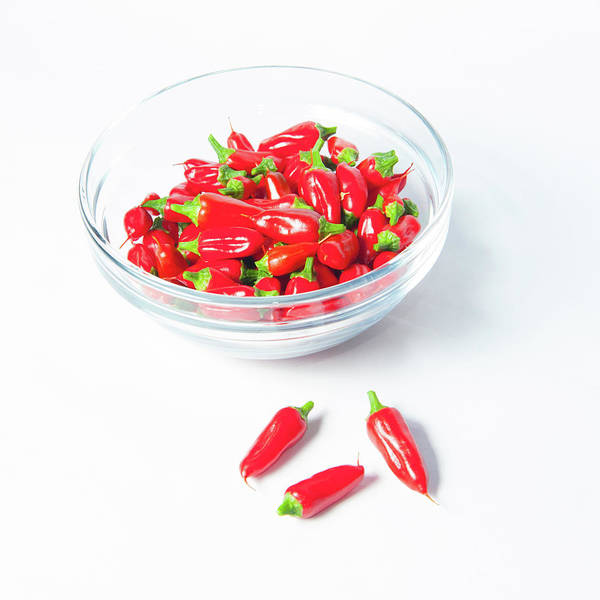 Photograph - Red Chillies In A Bowl IIi by Helen Northcott