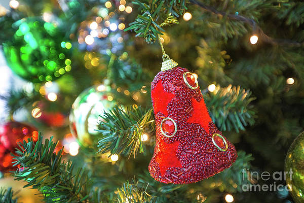 Photograph - Red Christmas Bell by Benny Marty