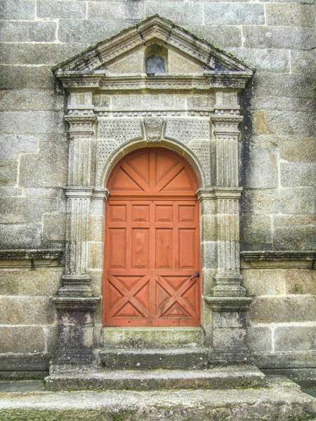 Photograph - Red Church Door I by Helen Northcott