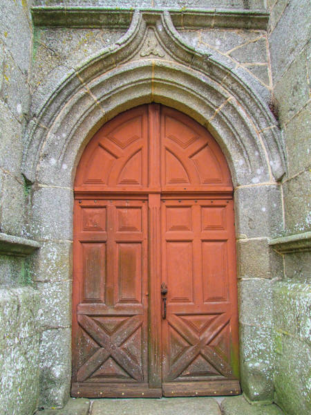 Photograph - Red Church Door IIi by Helen Northcott
