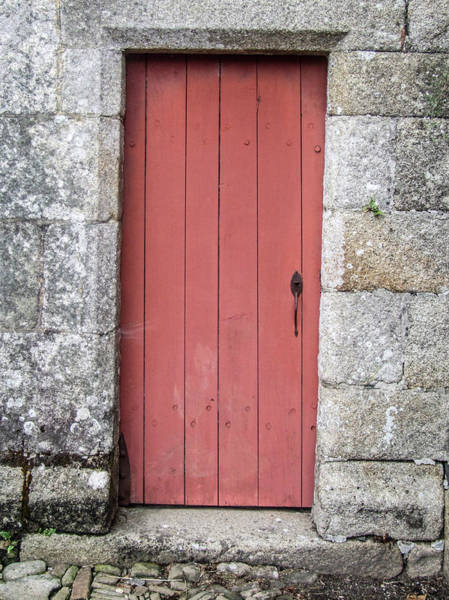 Photograph - Red Church Door Vii by Helen Northcott