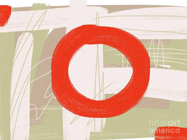 Painting - Red Circle by Go Van Kampen