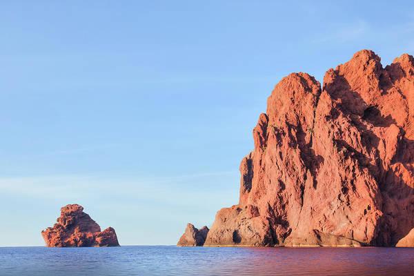 Calvi Photograph - Red Cliffs La Scandola - Corsica by Joana Kruse