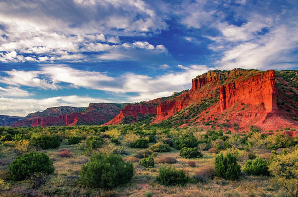 Photograph - Red Cliffs Of Caprock Canyon 2 by Adam Reinhart