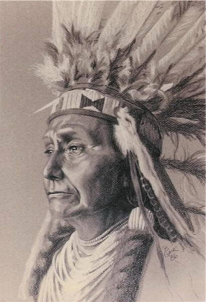 Drawing - Red Cloud by Barbara Keith