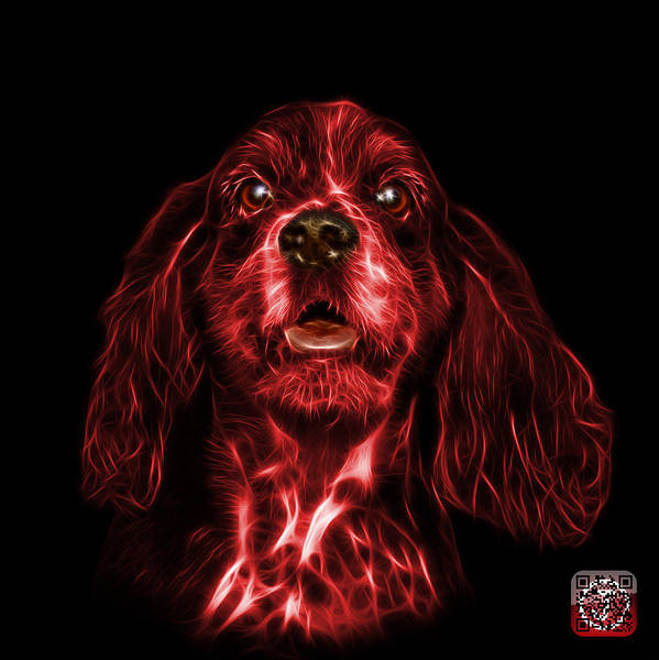 Mixed Media - Red Cocker Spaniel Pop Art - 8249 - Bb by James Ahn