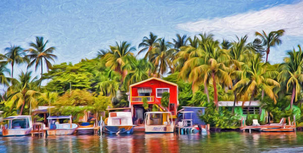 Photograph - Conch Key Waterfront Red Cottage  by Ginger Wakem