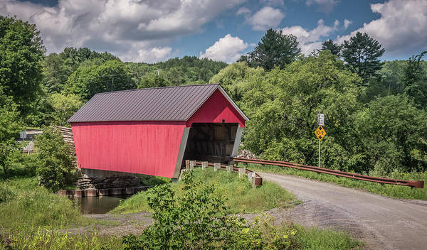 Photograph - Red Covered Bridge by Robert Mitchell