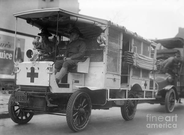 Photograph - Red Cross: Ambulance by Granger