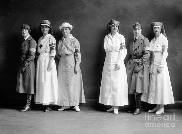 Photograph - Red Cross Corps, C1920 by Granger