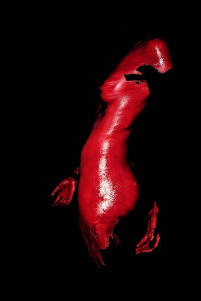 Strangling Painting - Red Curves by Ross Stewart