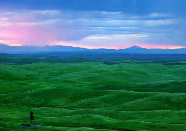 Palouse Photograph - Red Dawn Over The Palouse by Mike  Dawson