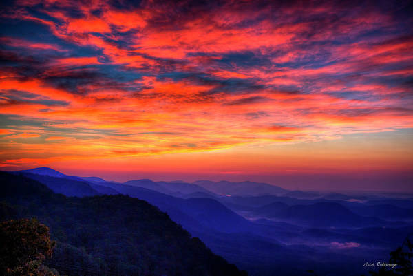 Photograph - Red Dawn Pretty Place Chapel Greenville Sc  Great Smoky Mountains Art by Reid Callaway