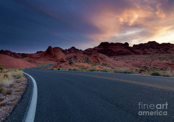 Red Desert Highway Art Print