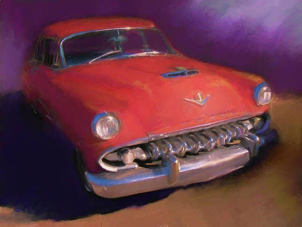 Digital Art - Red Desoto Coupe by David King