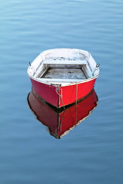 Wall Art - Photograph - Red Dinghy In Portsmouth by Eric Gendron
