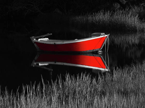 Photograph - Red Dinghy by Juergen Roth