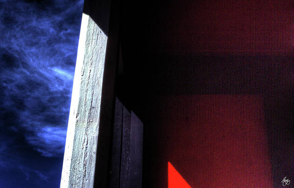 Photograph - Red Door Abstract by Wayne King