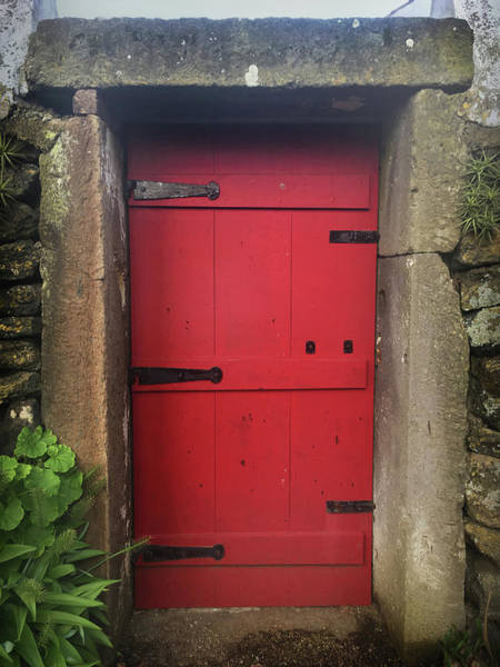 Photograph - Red Door At The Wine Museum Of Biscoitos by Kelly Hazel