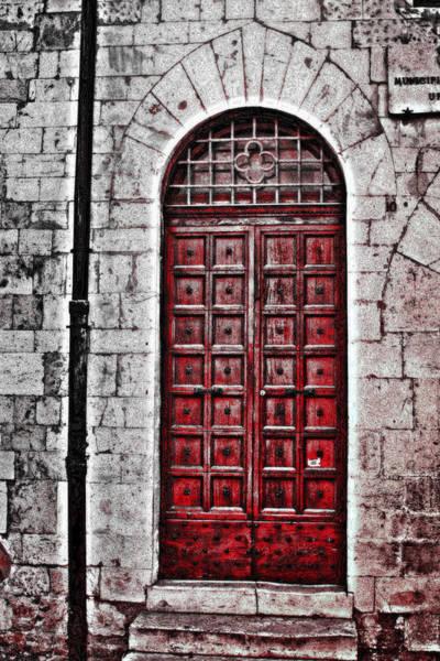 Red Brick Digital Art - Red Door by Greg Sharpe