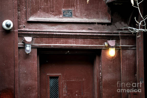 Photograph - Red Door In The Bowery by John Rizzuto