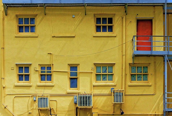 Photograph - Red Door On Yellow by Rudy Umans