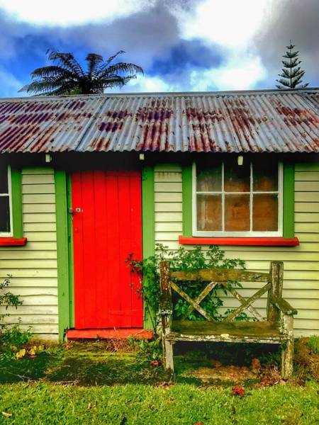 Toolshed Wall Art - Photograph - Red Door by Stuart Clifford