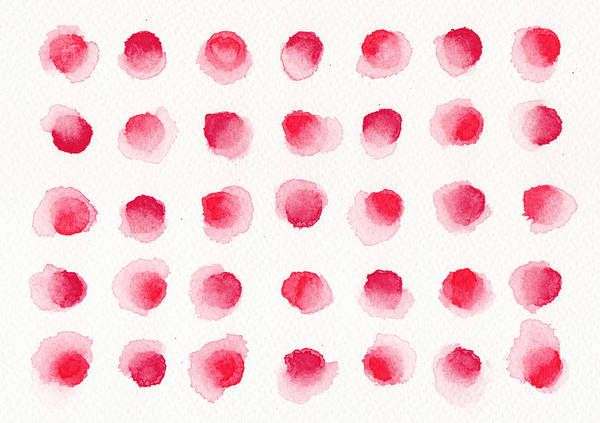 Red Ball Painting - Red Dots by Kathleen Wong