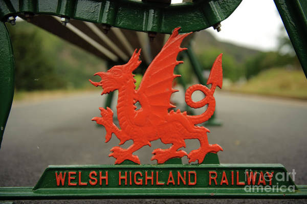 Photograph - Red Dragon Symbol At Welsh Highland Railway Station, by Keith Morris