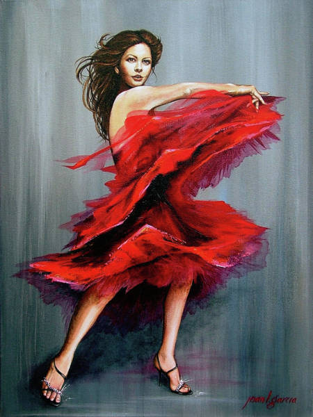 Painting - Red Dress by Joan Garcia