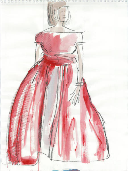 Hair Stylist Mixed Media - Red Dress by Kristy Lankford