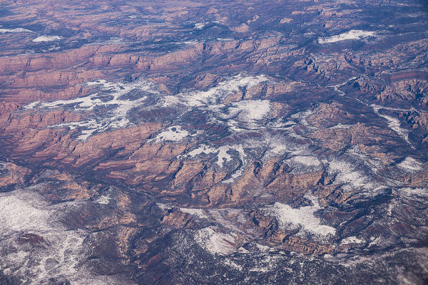 Photograph - Red Earth Canyons With A Dusting Of Snow by Georgia Mizuleva