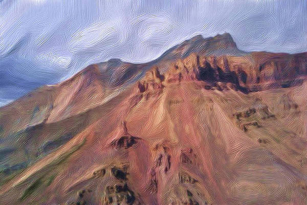Wall Art - Painting - Red Earth Mountains Yukon by Wayne Bonney