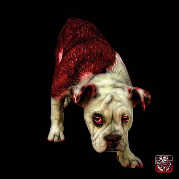 Painting - Red English Bulldog Dog Art - 1368 - Bb by James Ahn