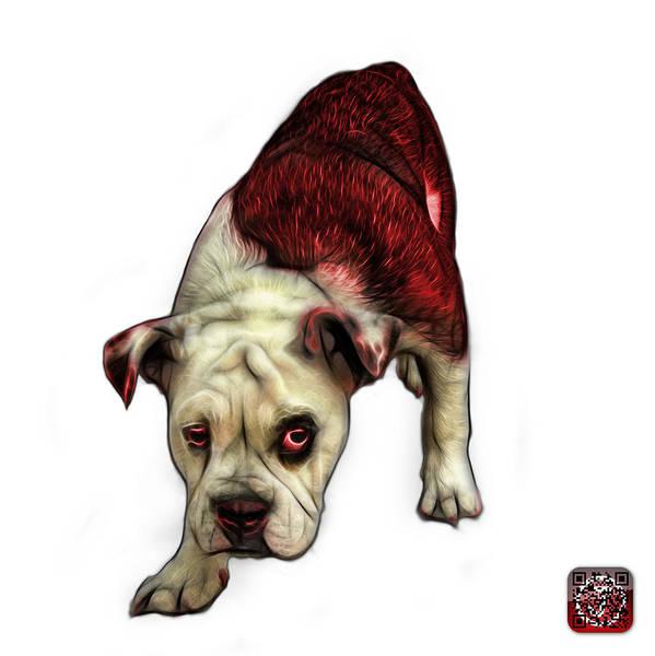 Painting - Red English Bulldog Dog Art - 1368 - Wb by James Ahn