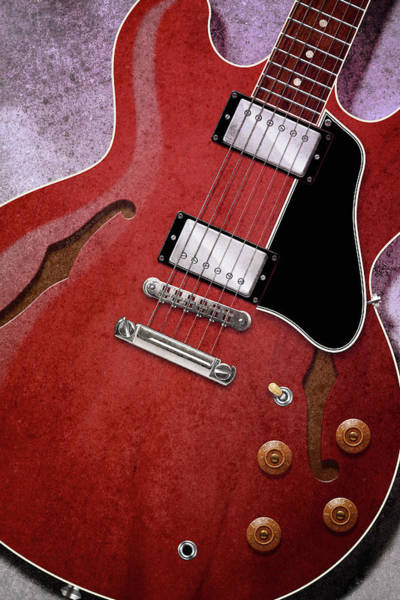Semis Digital Art - Red Es-335 by WB Johnston