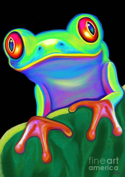 Wall Art - Painting - Red Eyed Tree Frog  by Nick Gustafson