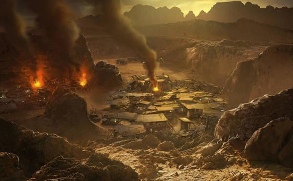Sunset Digital Art - Red Faction Armageddon by Super Lovely
